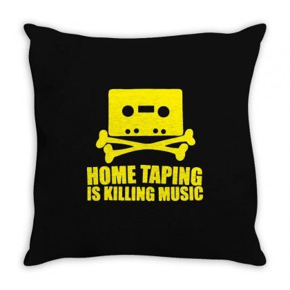 Home Taping Is Killing Music3 Throw Pillow Designed By Enjang