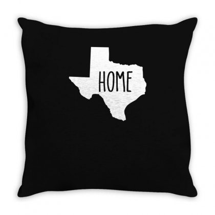 Home Texas Outline Throw Pillow Designed By Enjang