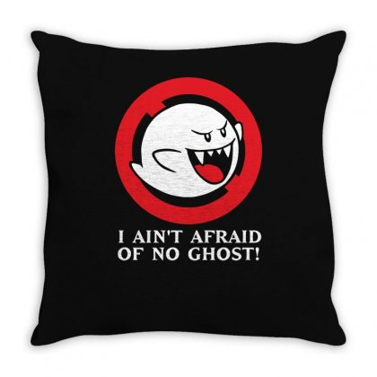 I Ain't Afraid Of No Ghost Throw Pillow Designed By Enjang