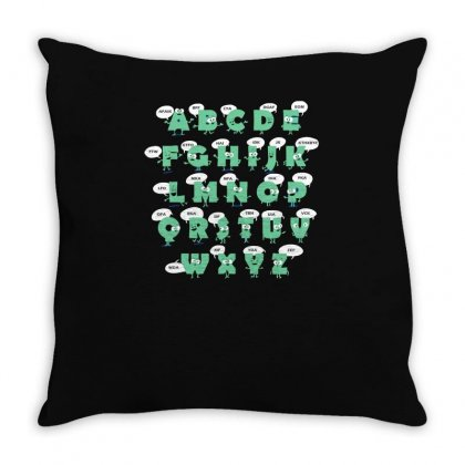Alphabetical Abbreviations Throw Pillow Designed By Achreart