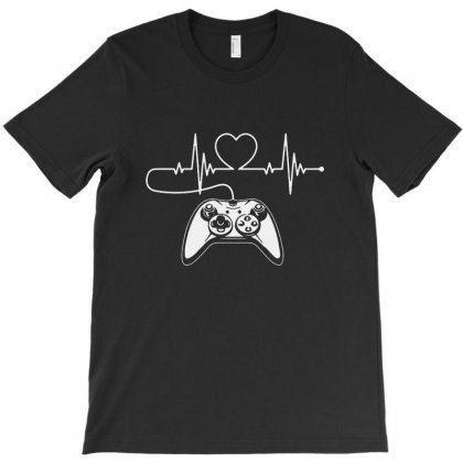Gamer Heartbeat T Shirt Video Game Lover T-shirt Designed By Fejena