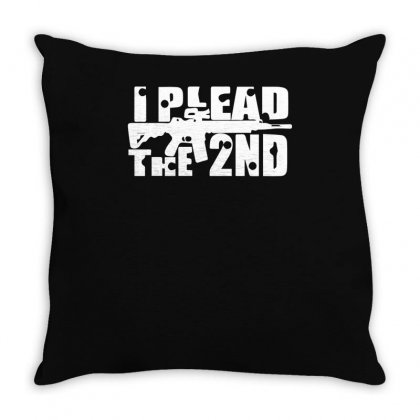 I Plead The 2nd. Throw Pillow Designed By Ismi