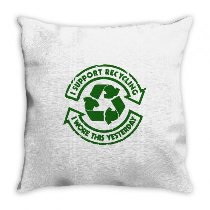 I Support Recycling Throw Pillow Designed By Ismi