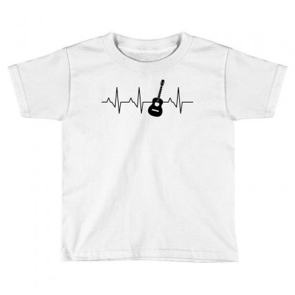 Acoustic Guitar Heartbeat Toddler T-shirt Designed By Fejena