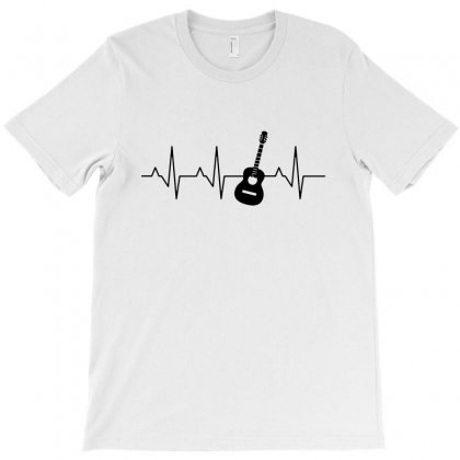 Acoustic Guitar Heartbeat T-shirt Designed By Fejena