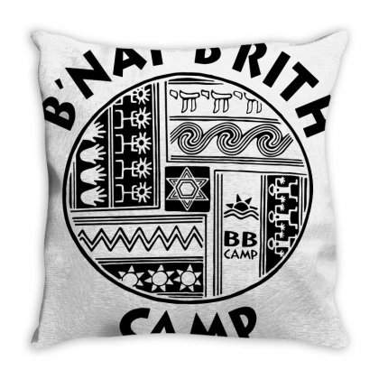 Camp Bb Throw Pillow Designed By Valen