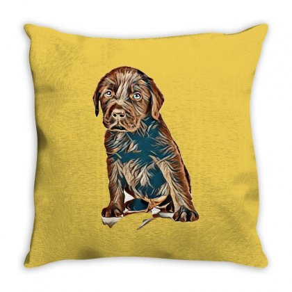 I Love My Dogs Throw Pillow Designed By Kemnabi
