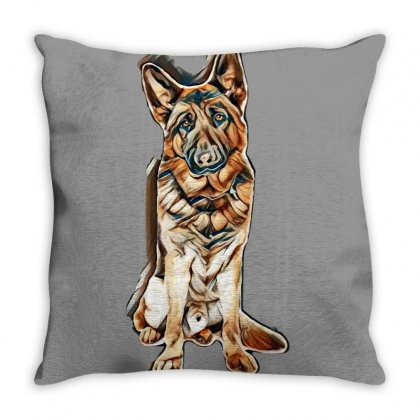 Dog Lovers Throw Pillow Designed By Kemnabi