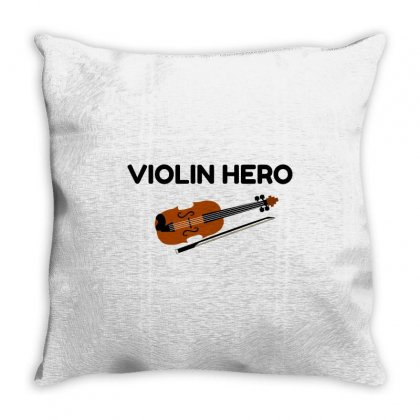 Violin Hero Throw Pillow Designed By Perfect Designers