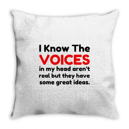 Voices In Head Throw Pillow Designed By Perfect Designers