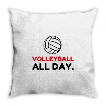 Volleyball All Day Throw Pillow Designed By Perfect Designers