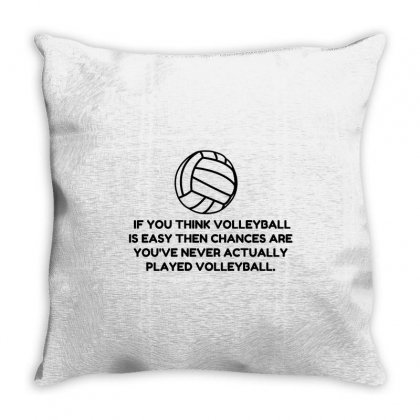 Volleyball Easy Throw Pillow Designed By Perfect Designers