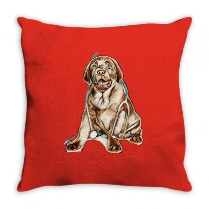 Love My Dogs Throw Pillow Designed By Kemnabi