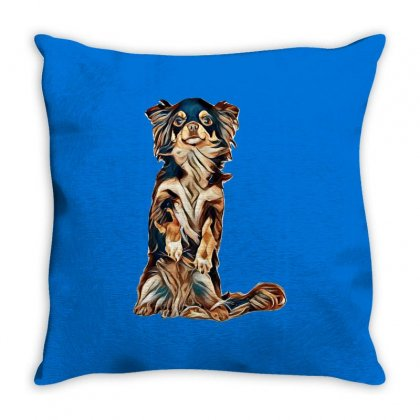 Rescue Dog Throw Pillow Designed By Kemnabi