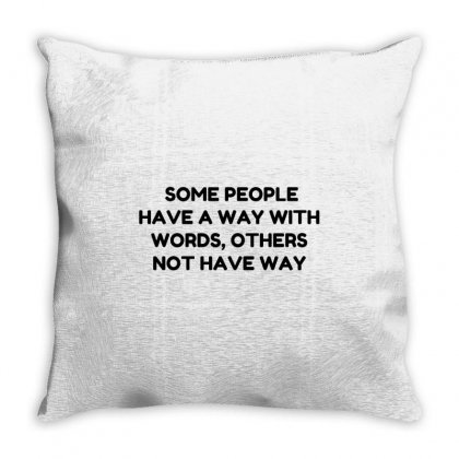 Way With Words Throw Pillow Designed By Perfect Designers