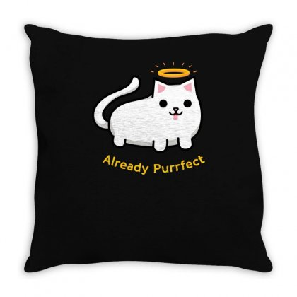 Already Purrfect Throw Pillow Designed By Achreart