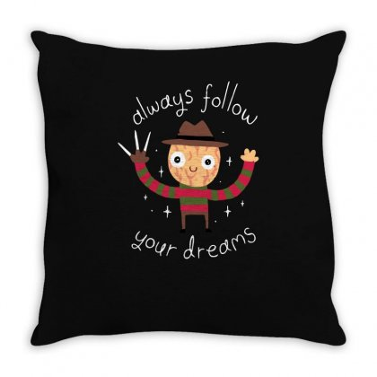 Always Follow Your Dreams Throw Pillow Designed By Achreart