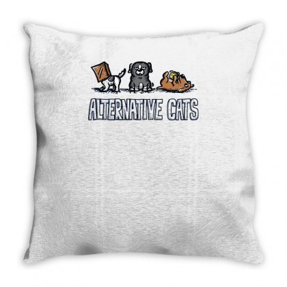 Alternative Cats Throw Pillow Designed By Achreart