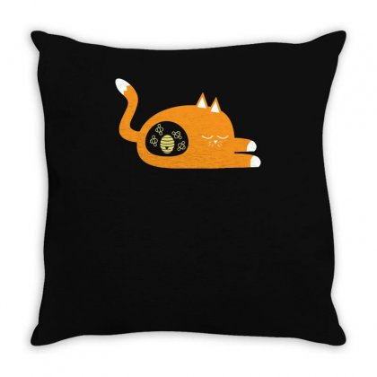 Alternative Cat Facts Throw Pillow Designed By Achreart