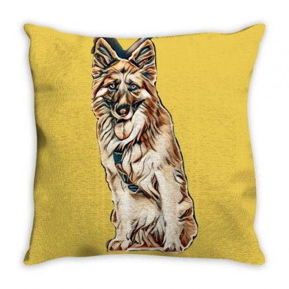 Dog Lover Throw Pillow Designed By Kemnabi
