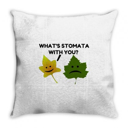 What's Stomata With You Throw Pillow Designed By Perfect Designers
