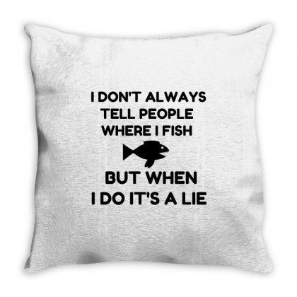 Where I Fish Throw Pillow Designed By Perfect Designers