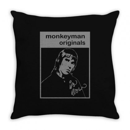 Ian Brown Tribute Throw Pillow Designed By Ismi