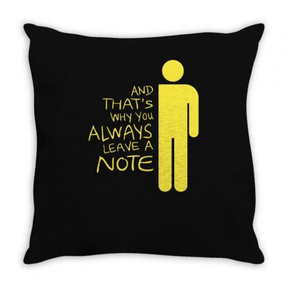 Always Leave A Note Throw Pillow Designed By Achreart
