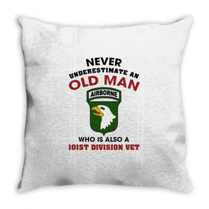101st Airborne Division Veteran Throw Pillow Designed By Balqis Tees