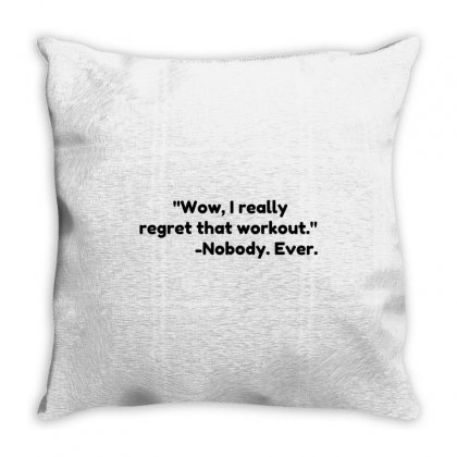 Workout Quote Throw Pillow Designed By Perfect Designers