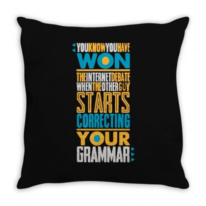 Amirite!! Again Throw Pillow Designed By Achreart