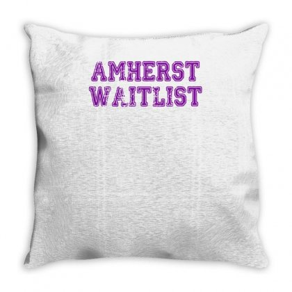 Amherst Waitlist Throw Pillow Designed By Achreart