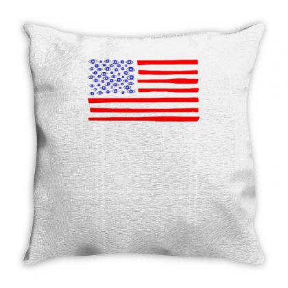 America Woke Throw Pillow Designed By Achreart