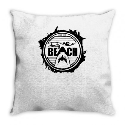 Amity Beach Throw Pillow Designed By Achreart