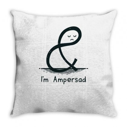 Ampersad Throw Pillow Designed By Achreart