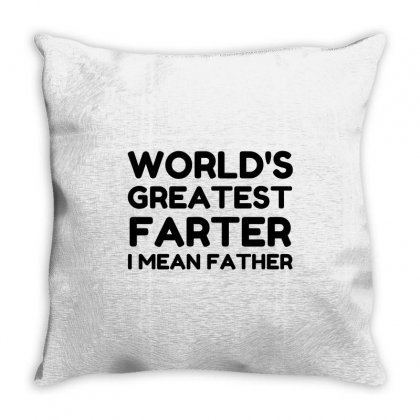 World's Greatest Farter Throw Pillow Designed By Perfect Designers