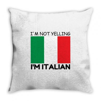 Yelling Italian Throw Pillow Designed By Perfect Designers