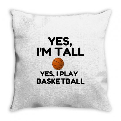 Yes, I'm Tall Throw Pillow Designed By Perfect Designers