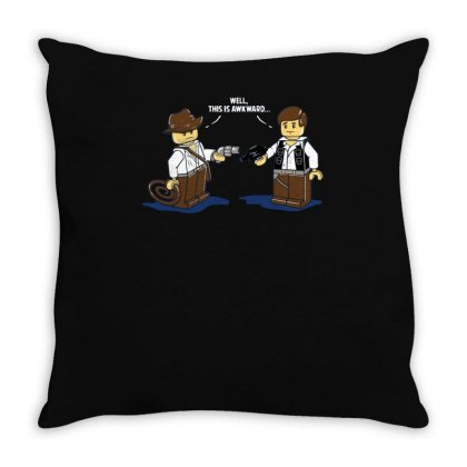 An Awkward Meeting Throw Pillow Designed By Achreart