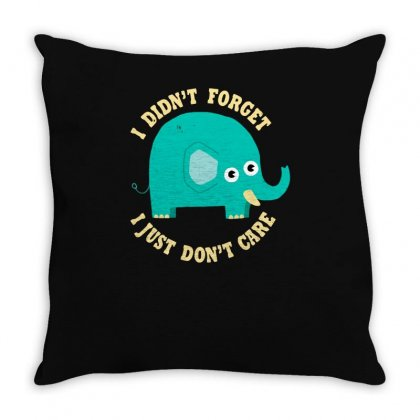 An Elephant Never Cares Throw Pillow Designed By Achreart