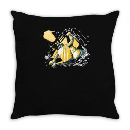 An Eager Robot Throw Pillow Designed By Achreart