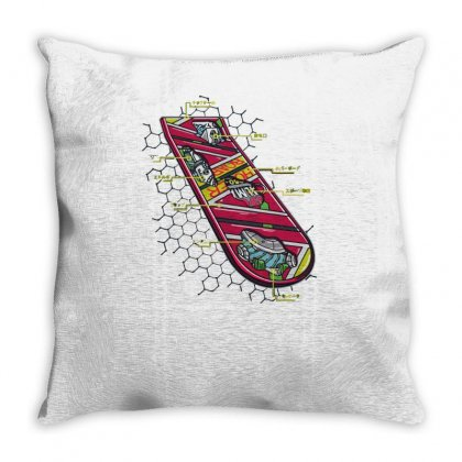 Anatomy Of A Hoverboard Throw Pillow Designed By Achreart