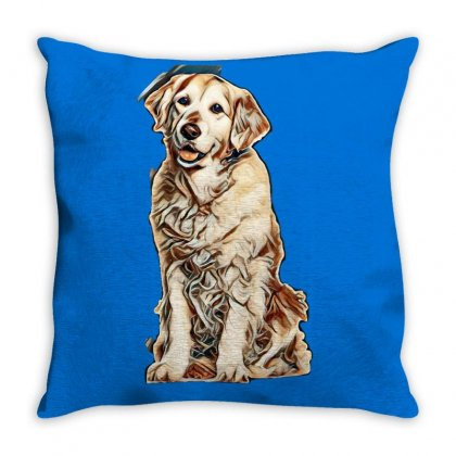 Cute Dogs Throw Pillow Designed By Kemnabi