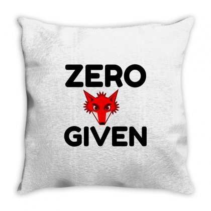 Zero Fox Given Throw Pillow Designed By Perfect Designers