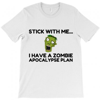 Zombie Apocalypse Plan T-shirt Designed By Perfect Designers
