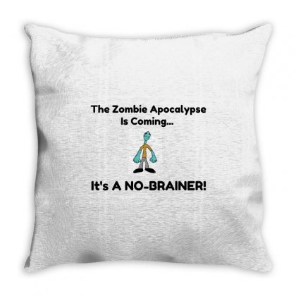 Zombie No Brainer Throw Pillow Designed By Perfect Designers