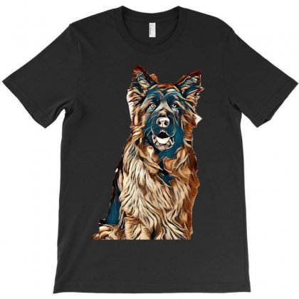 I Love My Dogs T-shirt Designed By Kemnabi