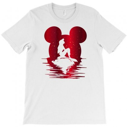Mermaid Ariel Mickey Mouse T-shirt Designed By Sengul
