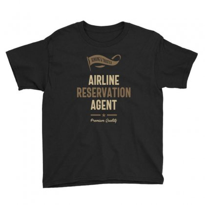 Airline Reservation Agent Youth Tee Designed By Cidolopez