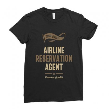 Airline Reservation Agent Ladies Fitted T-shirt Designed By Cidolopez